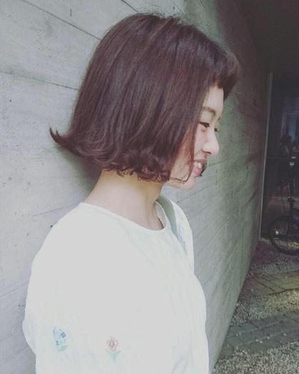 流行りの切りっぱなしボブ! 短めの前髪がかわいいです^_^ EARTH/A立川店所属・店長 田之倉将也のスタイル