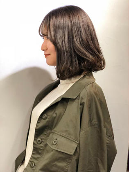 暗めのカラーでも透明感...♡ lok所属・円成理紗のスタイル