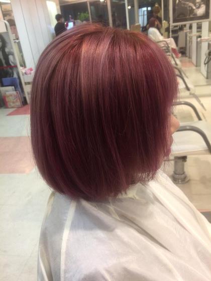 ピンク、インナーカラーで濃いピンクも入れてるから可愛い⭕️ DEUX MORE所属・井上順太のスタイル