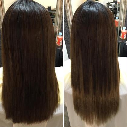 ✳︎エクステ40本  ✳︎グラデ風 Hair Grande Seeek所属・佐藤真由のスタイル