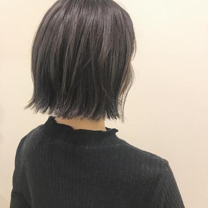 カラー グレージュ♡室内では黒っぽくみえるので髪色厳しい方にもオススメ\(^o^)/