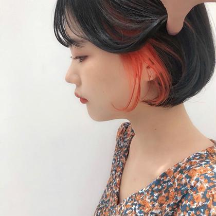 💍個性派、韓国風💍似合わせ小顔cut + 💙インナーカラーor裾カラー💙 +Re色持ちトリートメント