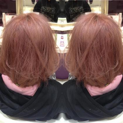 コーラルピンク  今年流行りのピンク系を薄めたカラーリング  Meret所属・皆巳達郎のスタイル