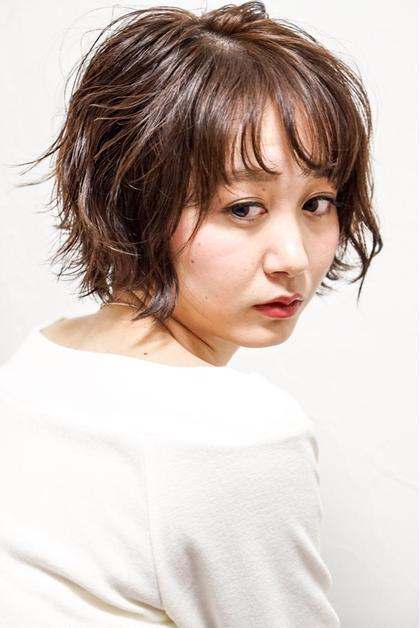 フェザーバング&フェミニンショート 美容室sabrina所属・佐藤康太のスタイル