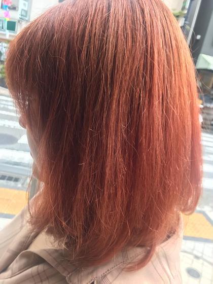 【人気No.2‼️】前髪cut+Wカラー(ケアブリーチ使用)