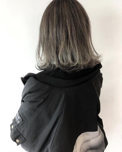 ハイライトグラデーション 梅田繁和のミディアムのヘアスタイル