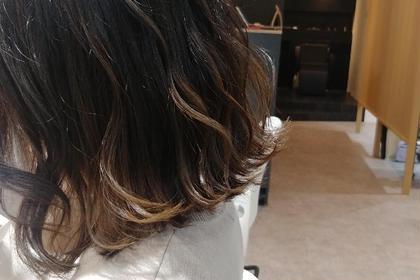 バレイヤージュ イルミナカラー アディクシーカラー 髪質改善トリートメント 酸熱トリートメント
