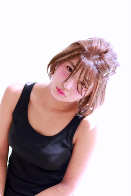 ショートボブからのヘアアレンジも簡単にできます♡ petit  girl(プティガール)所属・櫻井愛弓のスタイル