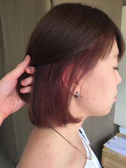 前髪カット+ANELAカラー+2stepトリートメント 3800円