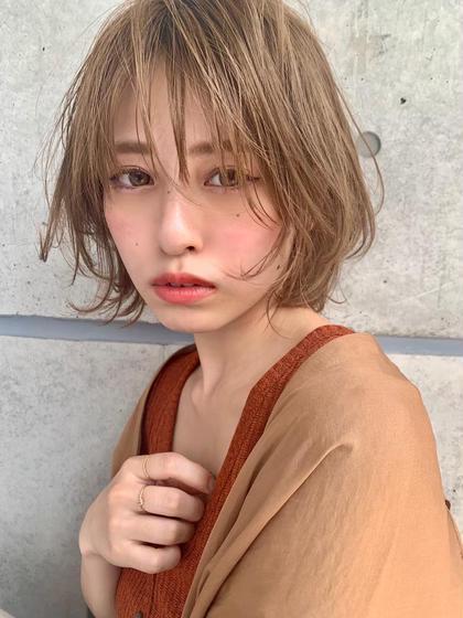 ✨❤️期間限定ダブルカラー❤️✨前髪カット➕カラー➕ハイライト➕トリートメント
