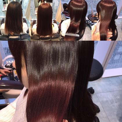 その他 カラー セミロング ミディアム ロング ビフォー&アフター☆  つや髪❤︎