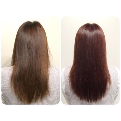 色落ちしてしまった髪色に 秋っぽいピンクバイオレット au-be 青山所属・遠藤悠大のスタイル