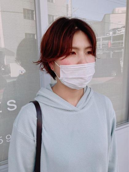 woman's クセ毛風パーマ (ショート〜ボブ)