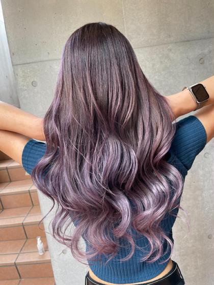 グラデーションカラー&うるつや髪質改善トリートメント