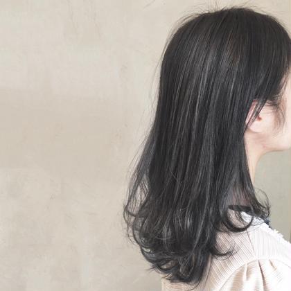 カラー ミディアム 暗髪color♡ダーク系だけど色味がハッキリわかる!