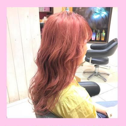 #モーヴピンク #ピンク #ピンクカラー #可愛い #LARME #ヘアアレンジ mimii所属・❤️ピンクカラー❤️【SHIN】のスタイル