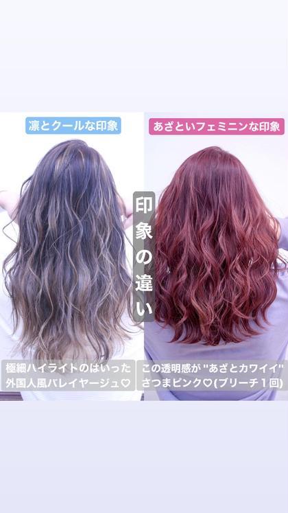 【美髪になりたい方💇♀️】髪質改善トリートメント付きなので髪の内部から補修💓(+500円で特別なカラー剤に変更◎)