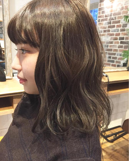 ナチュラル×ウェービーロブ★ ***natsumiのミディアムのヘアスタイル