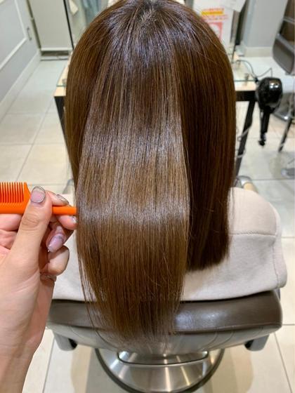【髪質改善】酸熱トリートメント+前髪カット👑👑