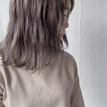 bob✖︎lavender ash  フリーランス美容師所属・豊浦翔太のスタイル