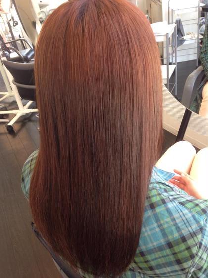 赤系のカラーで艶のある髪色にしました。 beauty:beast廿日市店所属・佐原貴之のスタイル