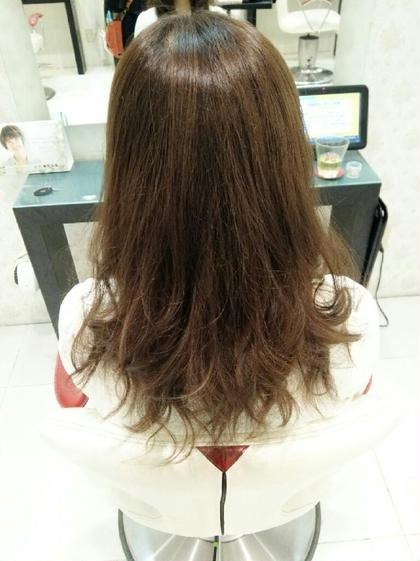 ブリーチonカラー 8トーンのナチュラルブラウンです(*^^*) hair&make EARTH浜町店所属・よしおかあおいのスタイル