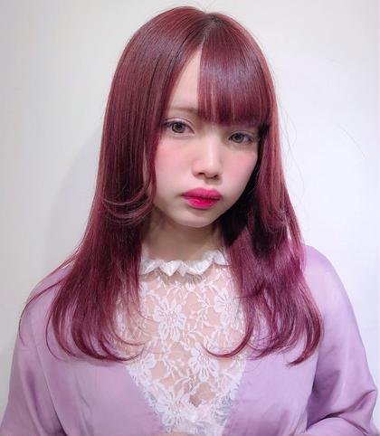 💝イチオシ✂️前髪カット+ブリーチ×1+カラー