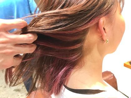 カラー ショート インナーカラー✨   さりげなく見えるピンクが春っぽくて オススメです‼️