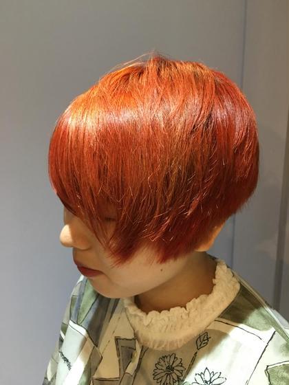 💖【人気】前髪カット&ダブルカラー【低ダメージケアブリーチ使用 】+3STEPトリートメント
