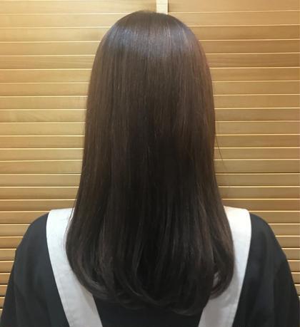 加工なし📸 ブリーチ毛でもツヤツヤに🔆✨ アリレイナ逗子店所属・藤岡夢のスタイル