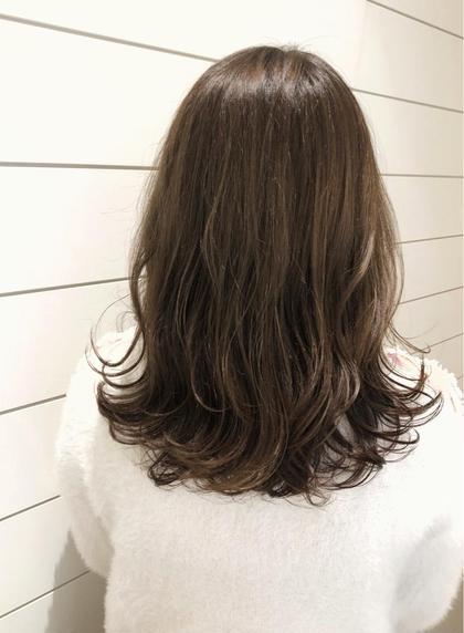 伸ばし中の方におすすめ✨前髪カット&外国人風カラー&5stepトリートメント