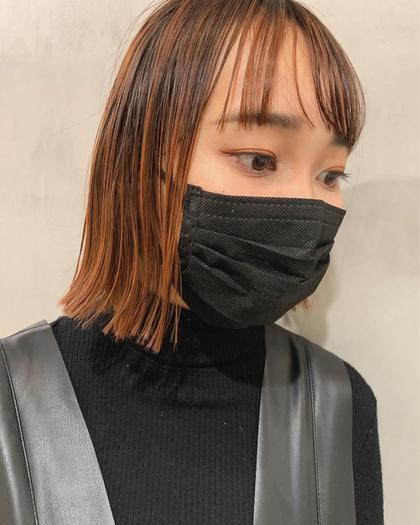✂︎【2回目以降】 デザインハイライト(ケアブリーチ) +カラー+トリートメント
