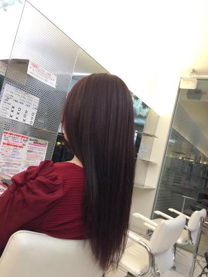 毛が太いので綺麗な色に見えるようヴァイオレットと赤で毛の赤みを生かし艶やかな仕上がりにしました!! produce陽光台所属・川崎希のスタイル