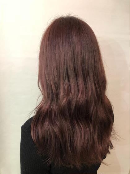 その他 カラー セミロング ピンクブラウン♡ 春におすすめです💗