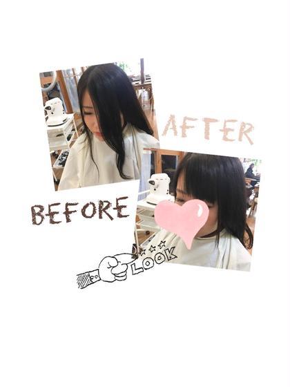 その他 前髪カット✂︎ 2年ぶりに前髪を作りました◎ 長いのも短いのもお似合いでした(*´꒳`*)  お好みの長さに切ります✂︎