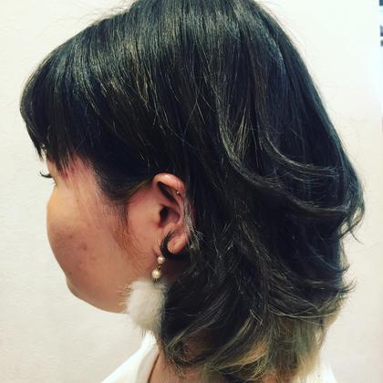 ハイトーングリーングラデーション✨✨ hair salon Emiille所属・数井大輝のスタイル