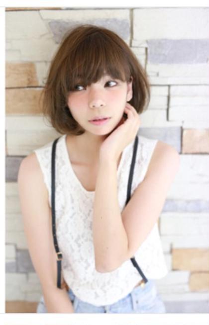 可愛らしいボブ♪ お客様モデルさんの可愛い、キレイを最大限に表現します(*´꒳`*)  bolge所属・松村幸子のスタイル