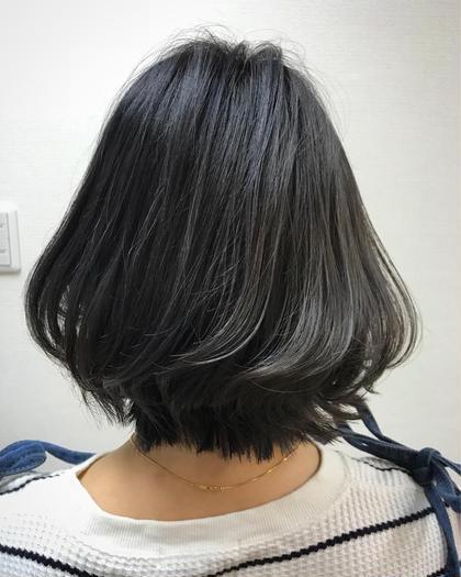 ✨人気No. 1✨デザインカット+外国人風透明感カラー(THROWカラー)+プレトリートメント