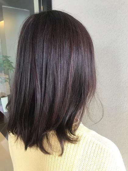 ✔cut+gray(グレイ)color+treatment