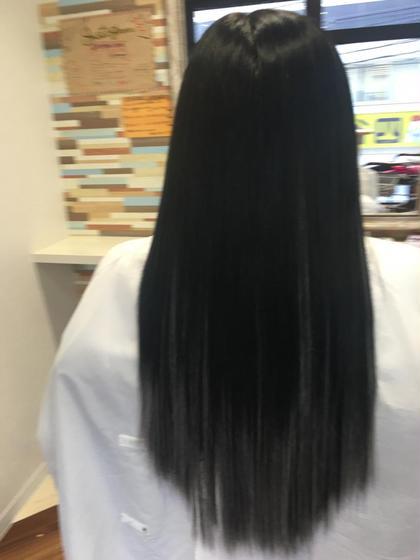 黒髪グラデーション☆彡.。 カラーで難しい色も簡単にエクステで♪