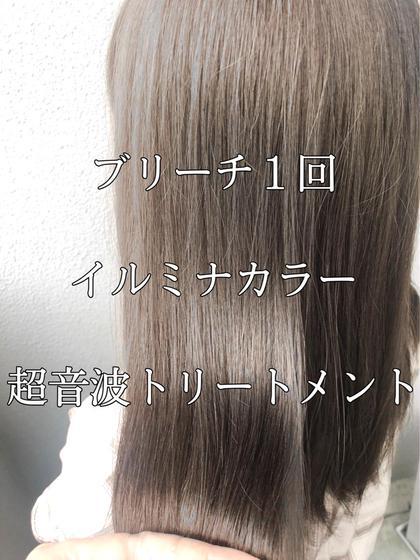 【透明感外人風カラー】光色イルミナカラー+ケアブリーチ♡