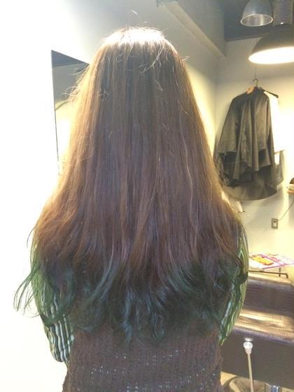 先日施術の実際のお客様です。 グラデーションカラー。 cham cello Hair 所属・アライユウコのスタイル