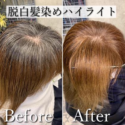 白髪が気になる方にオススメ‼️白髪を活かすハイライト+カラー+トリートメントが8800円‼️