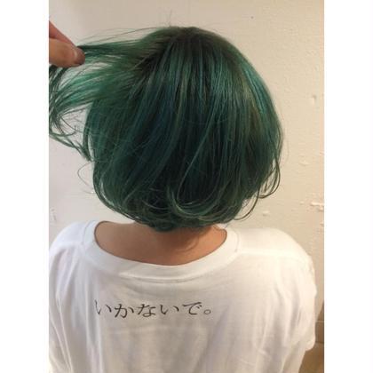 カラー ショート セミロング ミディアム メンズ ロング グリーンカラー