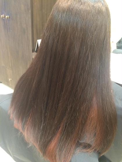 インナーカラー☆ナチュラルブラウン×レッド♡ Hair resort  Ai所属・鈴木詩織のスタイル