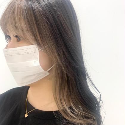 🧡部分的メンテナンス🧡前髪・顔周り小顔カット&艶カラー&紫外線防止トリートメント