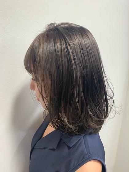 🌷シアベージュ🌷 暗髪でも透明感のある柔らかいカラーです GAFF表参道本店所属・kiccaきっかのスタイル