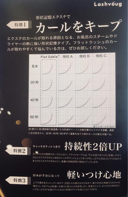 フラットラッシュセーブル 80本☆カール持続性up