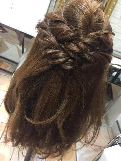 ロープ編み込みヘア if所属・ほりはるかのスタイル
