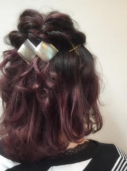根本ダークトーン、毛先はバイオレットのグラデーションカラーです!伸びてきても根元が気になりづらいカラーです!▷▶︎▷グラデーションカラー¥6000 HAIR&MAKE POSH 新宿店所属・浦井奈津美のスタイル